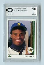 KEN GRIFFEY JR RC 1989 UPPER DECK #1 BCCG 10 MINT OR BETTER MARINERS ROOKIE