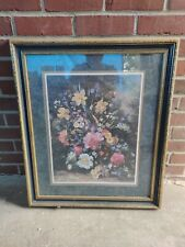 Albert Williams Home Interiors Green And Gold Frame. Good Conditions 27x23