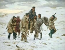 Howard Terpning CHIEF JOSEPH RIDES TO SURRENDER MuseumEdition Canvas #100/225