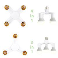 4 In 1 E27 To 3 / 4 E27 Base Socket Splitter LED Light Lamp Bulb Adapter Holder