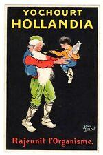 POSTCARD FRENCH HOLLANDIA YOGURT SIGNED JEAN DROIT  (1218)