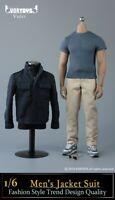 Stock VORTOYS V1018 1/6 Men's Jacket Suit Clothes Suit For 12in Action Figure