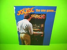 Williams JOUST 1982 Original Video Arcade Game Promo Sales Flyer Foldout Adv.