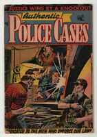 Authentic Police Cases #36 Matt Baker cover & art 2 stories 1954 pre-code Crime