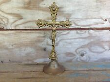 Antique Brass Crucifix