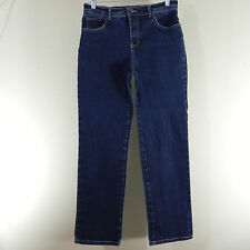 Gloria Vanderbilt Womens Jeans Amanda Blue Dark Wash Stretch Size 8P Average