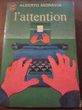 Alberto Moravia: l'attention/ J'ai lu, 1973