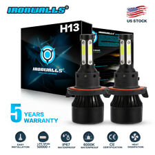 4-sides 1900W 285000LM H13 9008 LED Headlight Lamp Bulbs Kit High/low beam 6000k