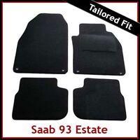 SAAB 9-3 93 Estate Facelift Mk2 2008-2012 Tailored Carpet Car Mats BLACK