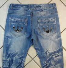 """LIUCE'S """"RELAXED"""" MEN'S PANTS DENIM BLUE JEANS. SIZE 38 INSEAM 30"""