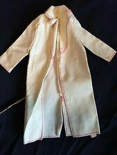 Vintage  Genuine Barbie Fashion lather Long Coat w Belt Lightweight Long Sleeves