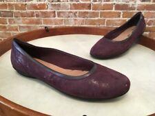 Clarks Purple Leather Gracelin Mara Slip On Comfort Ballet Flats NEW