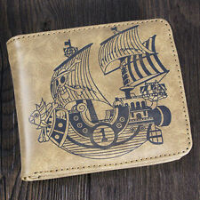 2016 Anime One Piece Pirate Ship Cosplay PU Leather Wallet Purse