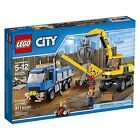 Lego City Town 60075 DEMOLITION EXCAVATOR and TRUCK shover jackhammer claw NISB