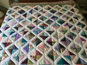 Handmade Multi Colored Diamond quilt