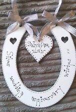 Personnalisé Mariage Anniversaire Souvenir Cheval Chaussure en forme de plaque signe Cadeau