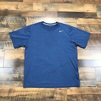 Men's Nike T-Shirt Short Sleeve Athletic Workout Running Shirt Size Large Blue