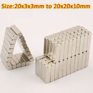 Strong Magnets 20x3x3mm to 20X20X10mm Neodymium Block Thin rectangle Magnet