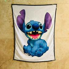 lilo&stitch big mouth coral fuzzy Blankets anime quilt rug small blankets new