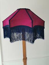 Magenta pink and navy  silk handmade lampshade star shaped standard lamp ceiling
