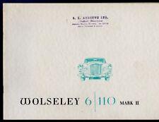 Wolseley 6/110 Mk II 1964-68 UK Market Sales Brochure