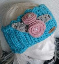 Stirnband mit Rosen-Applikation **10 cm breit** Gr. 50/52