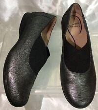 DANSKO Ann Black Rewter Metallic Loafers Shoes Women's Sz 40