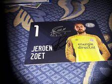 Signierte AK Jeroen Zoet PSV EINDHOVEN NEU MEGA RAR