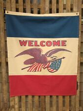 Americana Eagle Welcome Banner from The Country House Collection