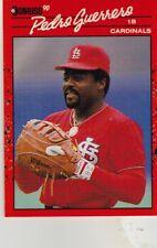 FREE SHIPPING-MINT-1990 Donruss St. Louis Cardinals Baseball #63 Pedro Guerrero
