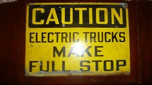 Vintage Original Shop Sign Heavy Ga. Steel 40's 50's