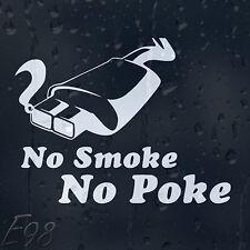 Aucune Fumée No Poke Drôle Autocollant Voiture Vinyle Autocollant