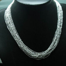 fashion Multi-line necklace +box Dn13 Lowest price wholesale solid silver