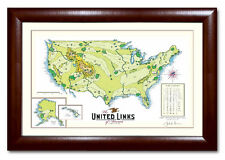 Unique Golf Gift - United Links of America - Ltd. Ed. Framed Print, Perfect Gift