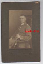Original  Foto /  Soldat mit EK2 und Säbel 1915