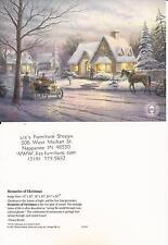 "Thomas Kinkade,""MEMORIES OF CHRISTMAS"" Two (2) Postcards , NEW"