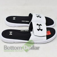 Under Armour 1287318-100 Men's Ignite V SL 4D Foam Slides White/Black (11)