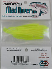 "Mad River 2-1/4"" Trout Worms - Chartreuse Tw05"
