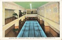 Postcard Swimming Pool Ambassador Hotel Washington DC