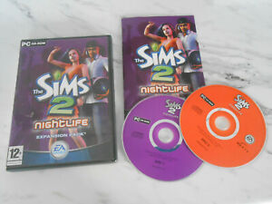 The Sims 2 Nightlife PC Game Expansion Pack Boxed + Manual * FAST DISPATCH *