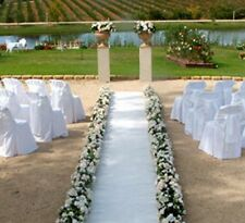 White Aisle Runner ~ 100 ft long x 38 in wide ~ Puncture Resistant ~ Weddings