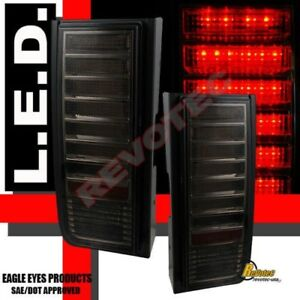 2003-2009 Hummer H2 SUV LED Tail Lights Lamps All Smoke 1 Pair