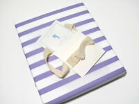 Pottery Barn Kids Cotton Purple White Breton Stripe Full Queen Duvet Cover Shams