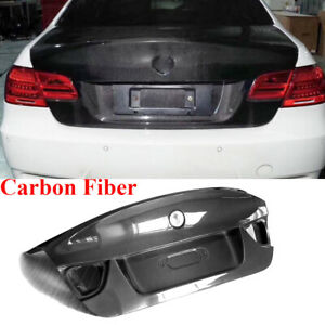 For BMW E90 325i 328i 335i 2009-2012 Rear Trunk Lid Tail Boot Cover Carbon Fiber