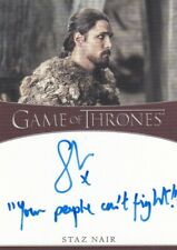 Game of Thrones Season 8 INSCRIPTION Autograph Card signed by Staz Nair  #4