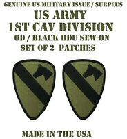 LOT OF 2 US ARMY 1ST CAV DIV PATCHES CAVALRY DIVISION PATCH UNIFORM BDU SUBDUED