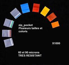 Pochette zip pocket pochon sachet plastique x1000