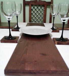 SOLID WOOD TABLE RUNNER - 5 COLOURS - NATURAL PINE MAHOGANY & OAK
