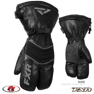 NEW 2021 FXR LEATHER CLAW MITT Snowmobile Black XS SM Md XL 2X 3XL 4XL gloves