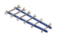 600mm Long - Blue Sharks Teeth Spanner Wrench Holds 35 Wrench in Holder Rack